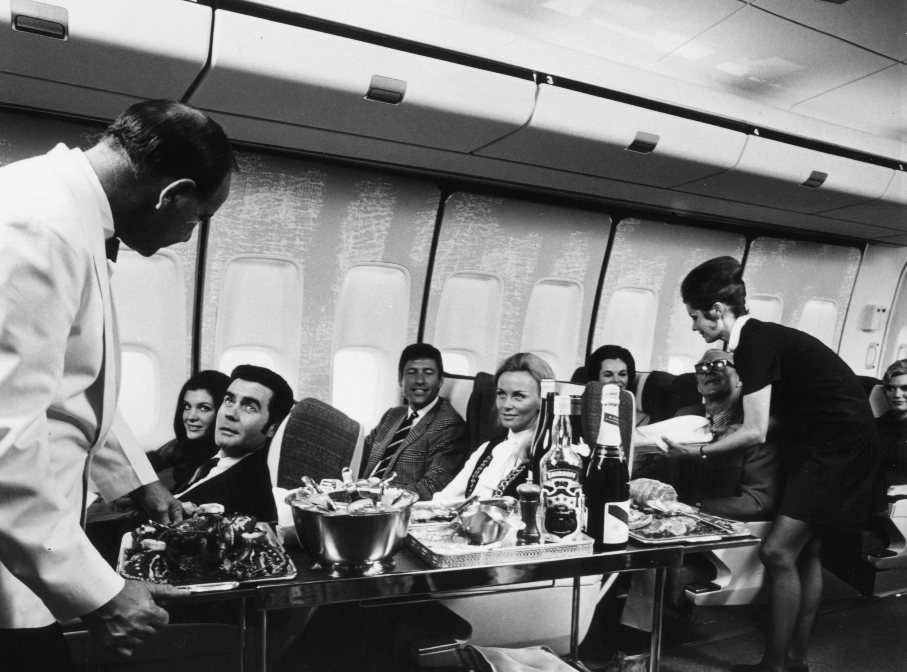 passengers flying first class