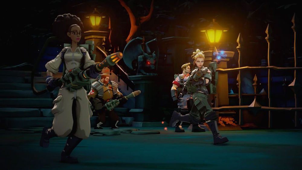 The Ghostbusters are ready to bust some ghosts.