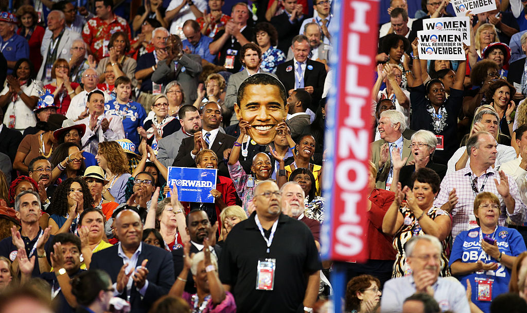 illinois delegation at the 2012 democratic national convention