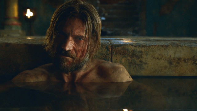 Jaime Lannister sits in the bath in a scene from Season 3 of 'Game of Thrones.'