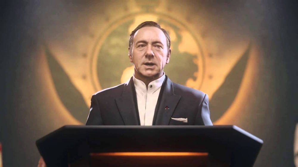 Kevin Spacey in Call of Duty: Black Ops 3.