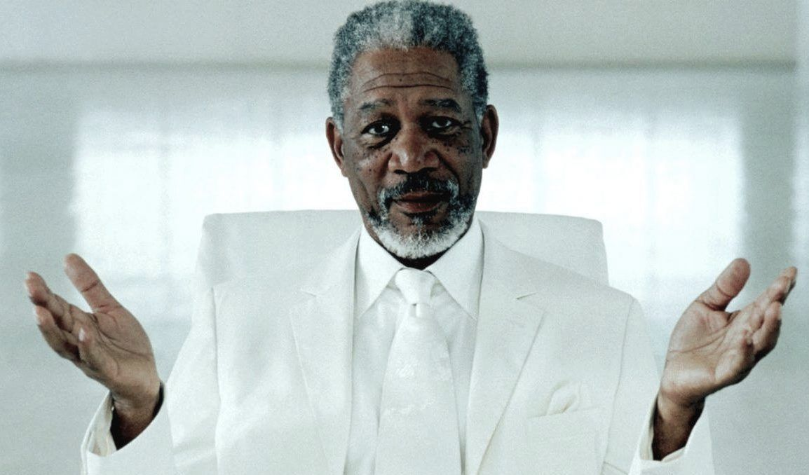 Morgan Freeman in Bruce Almighty