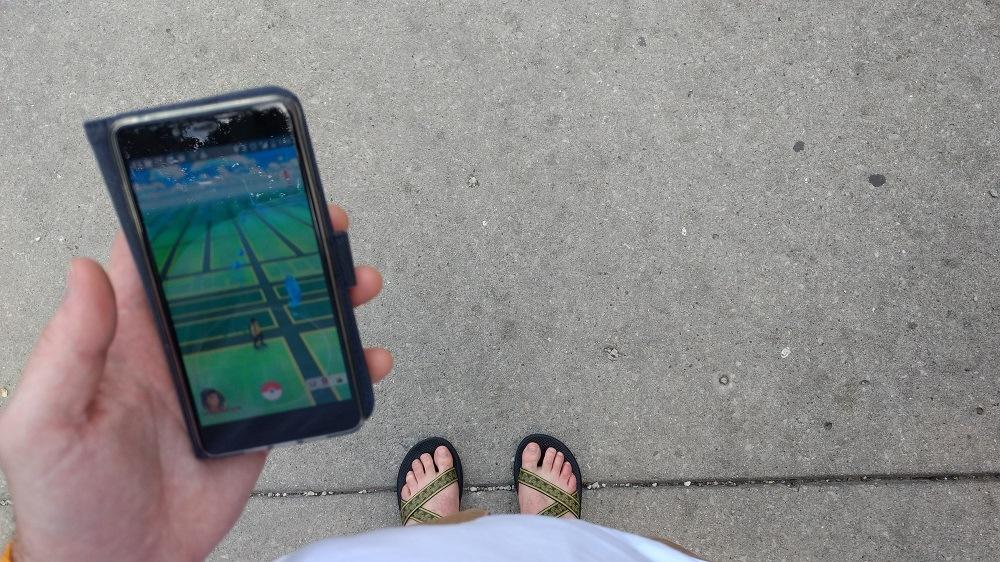 Pokémon GO map and walking