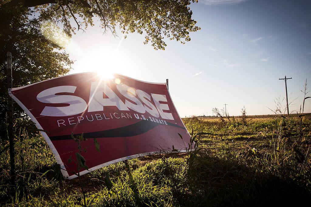 A political sign for Ben Sasse