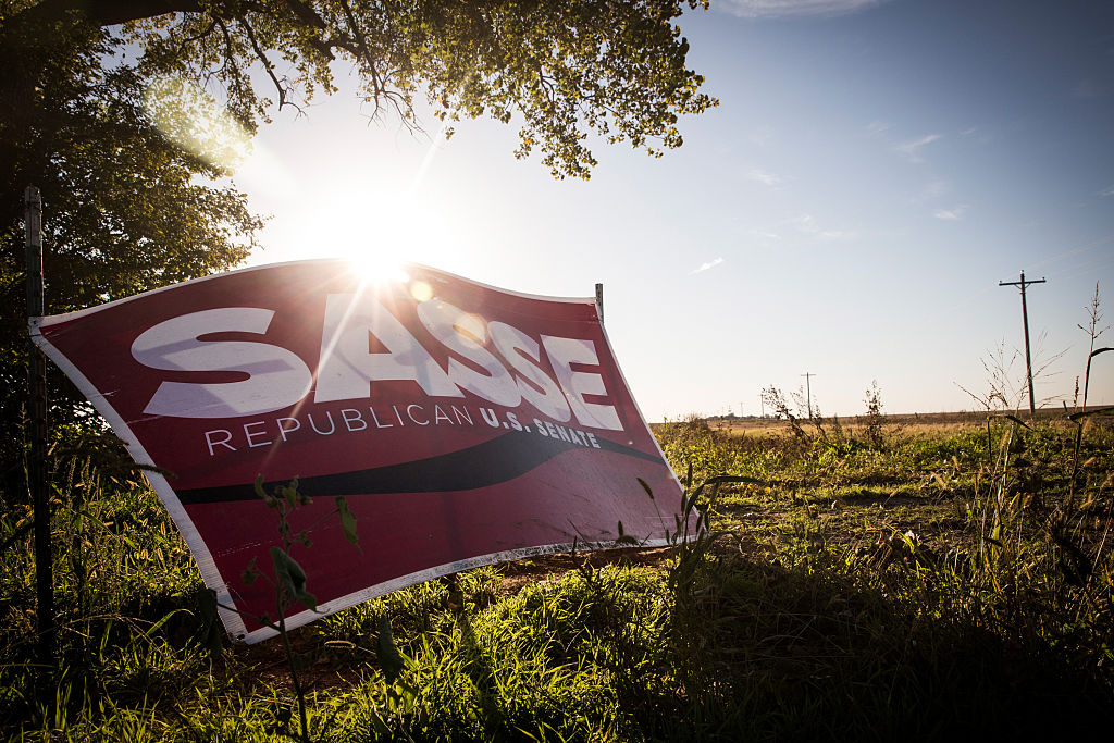 A political sign for Ben Sasse