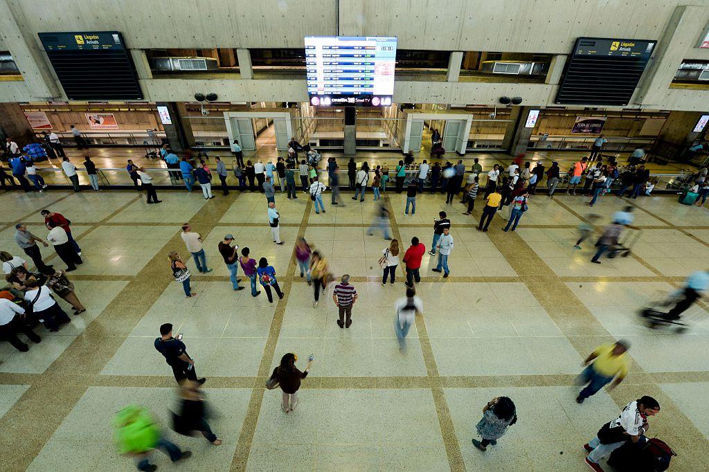 Simon Bolivar international airport in Caracas