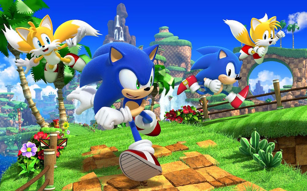 Sonic and friends in Sonic Generations.
