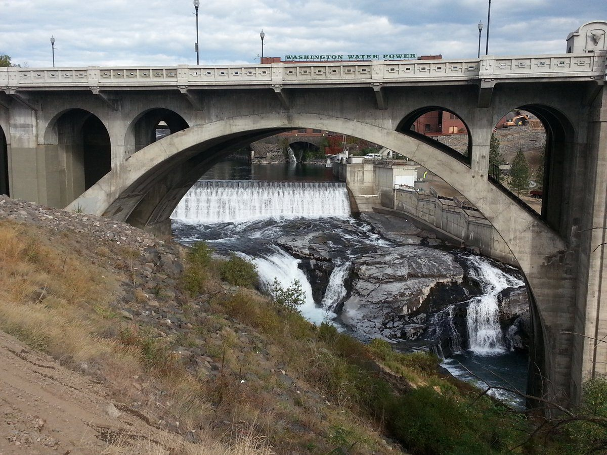The Monroe Street Bridge in Spokane, Washington