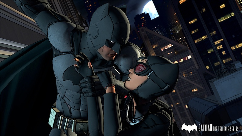 Batman and Catwoman.