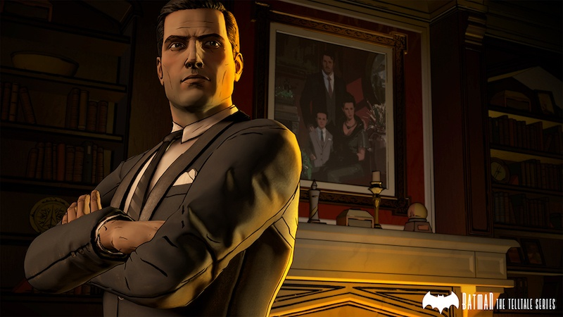 Bruce Wayne by the fireplace | Source: Telltale Games