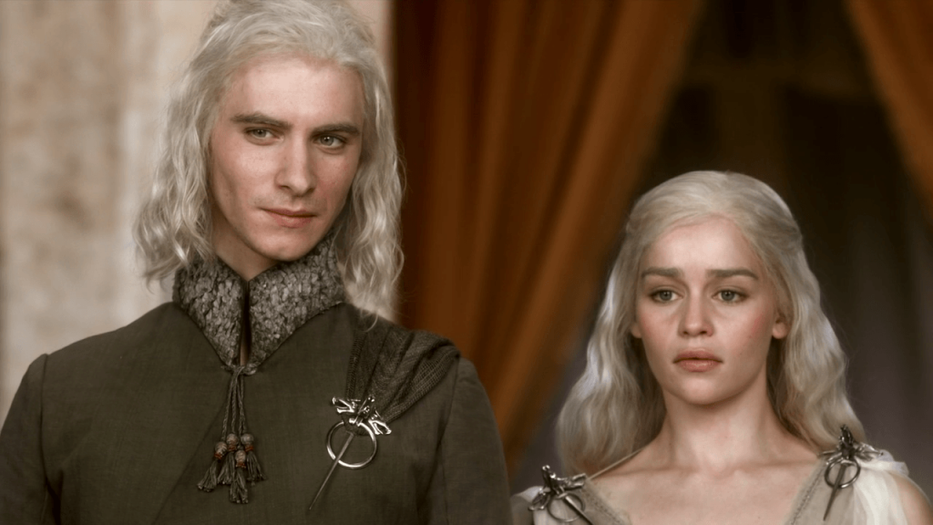 Viserys and Daenerys Targaryen in Game of Thrones