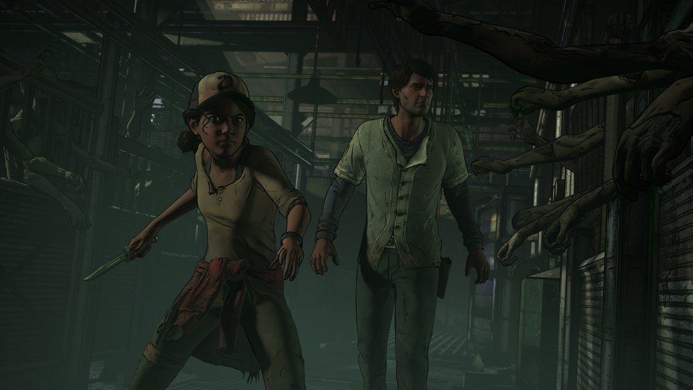 Clementine holds a knife.
