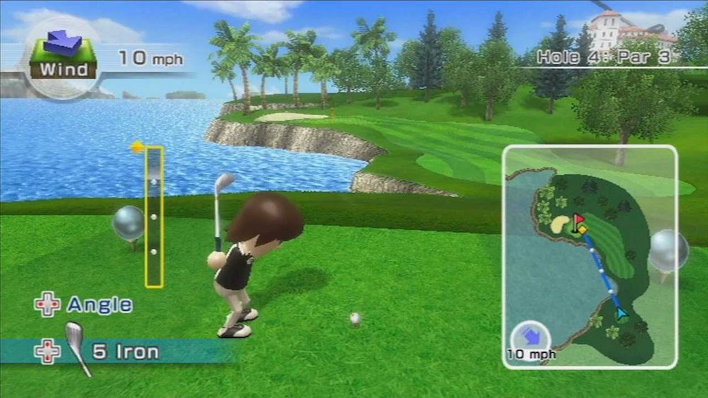 The golf game in Wii Sports.