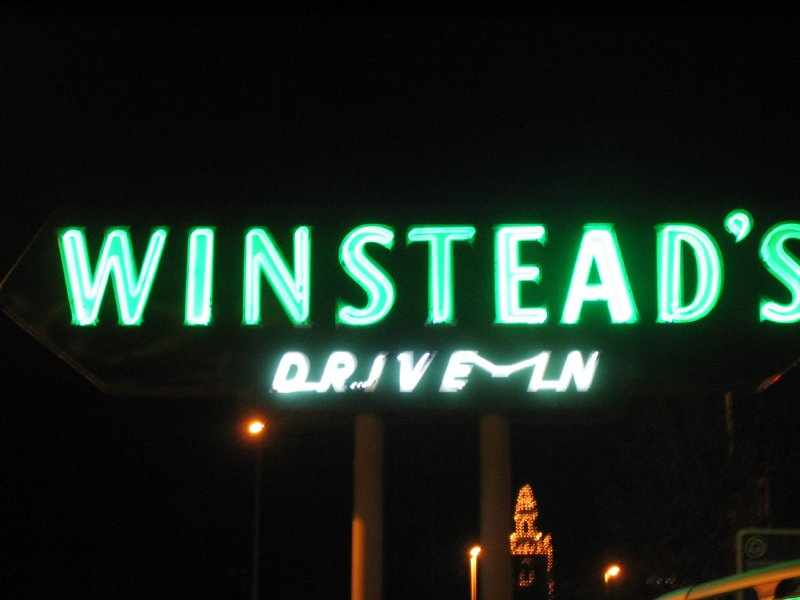 Sign for Winstead's Drive-in