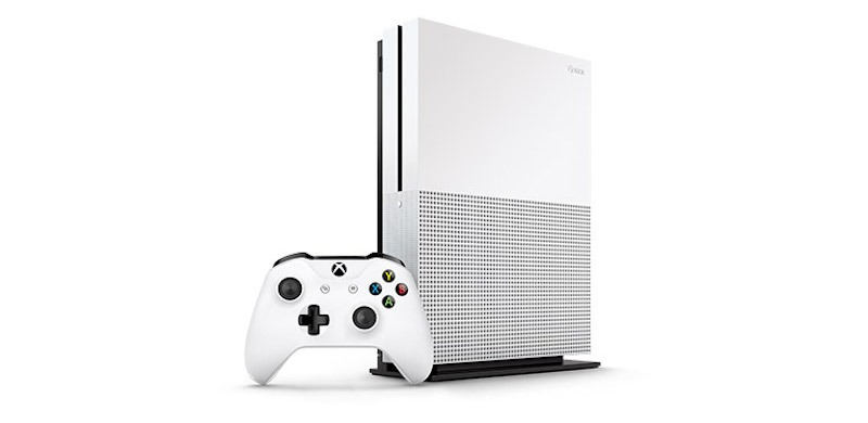 Xbox One S and controller.