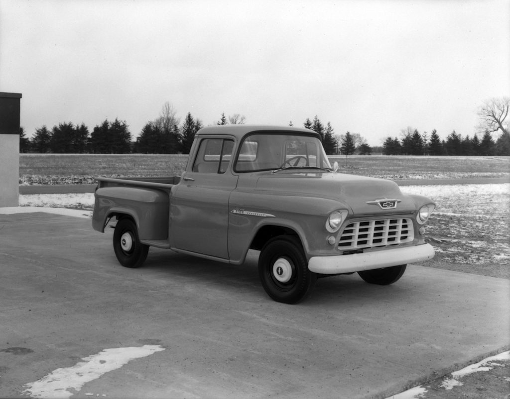 1955 Ford F100 Stepside Pickup 58 Chevy Cameo The Worlds First Sport Truck