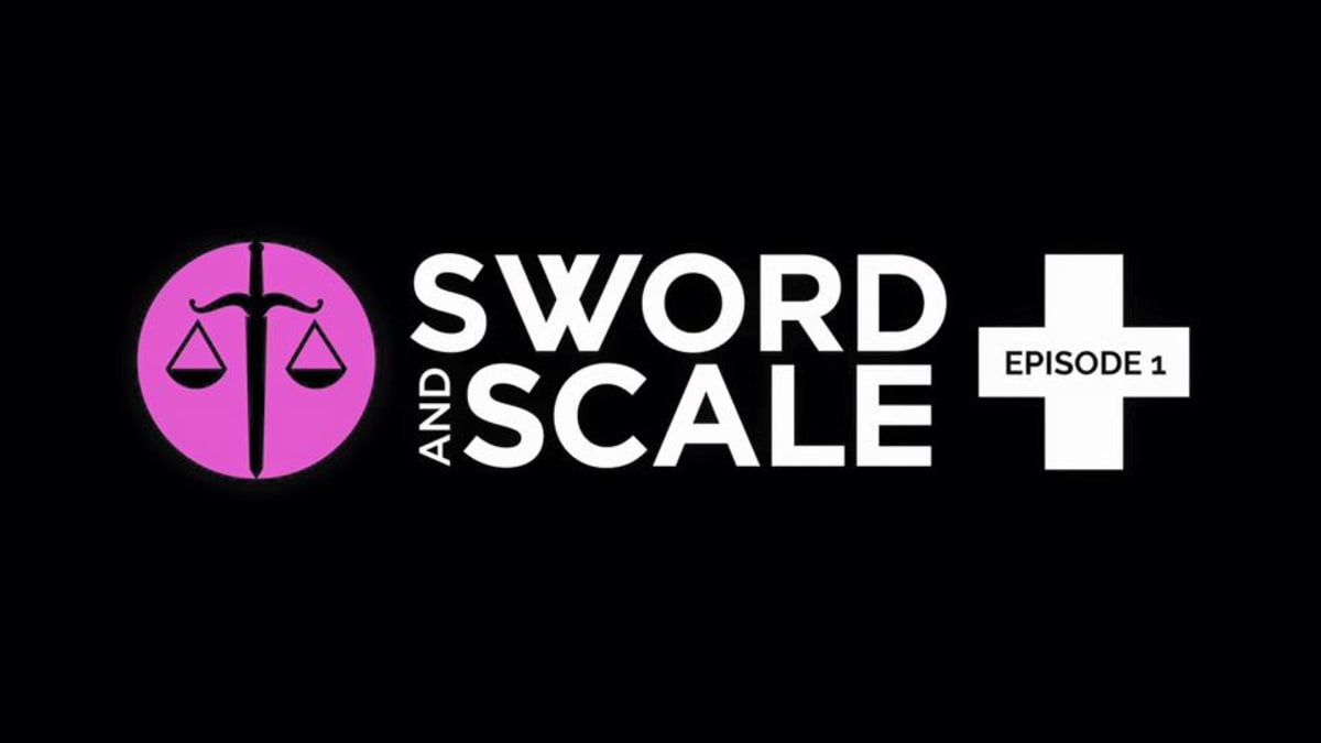 Sword and Scale podcast logo