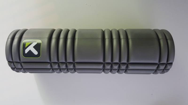 A Triggerpoint foam roller, ideal for post workout stretches