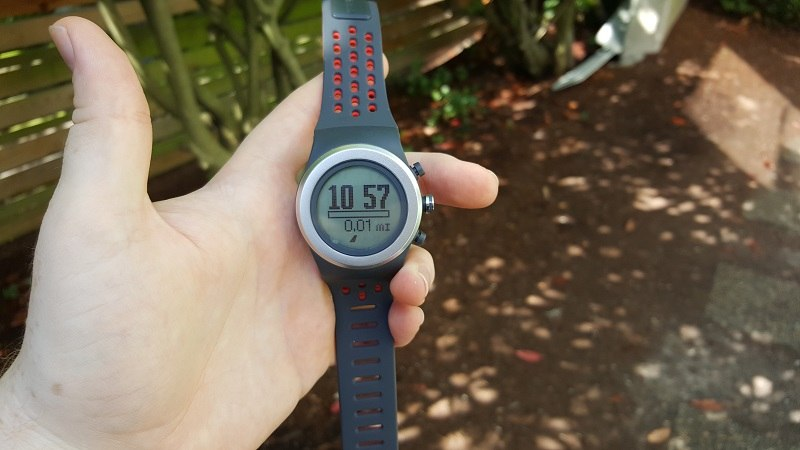 My first trip outside with the LifeTrak watch