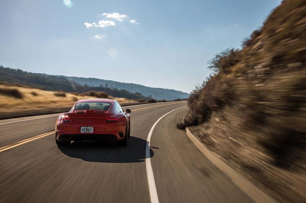 2017 porsche 911 carrera in red color