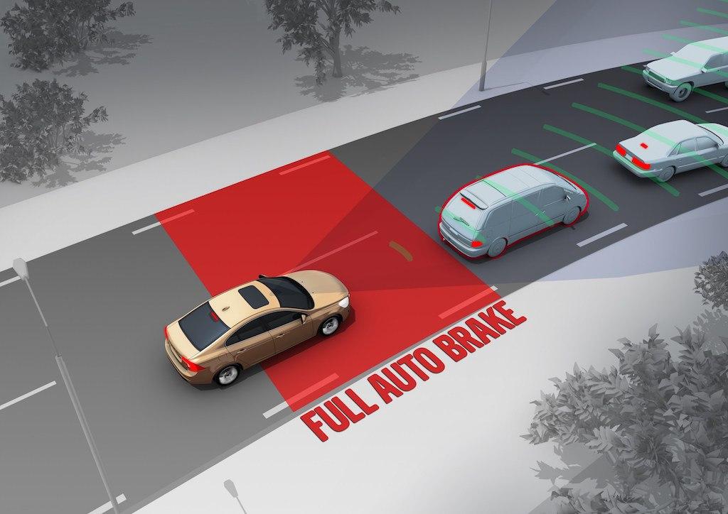 """Volvo """"City Safety"""" Automatic Emergency Braking System"""