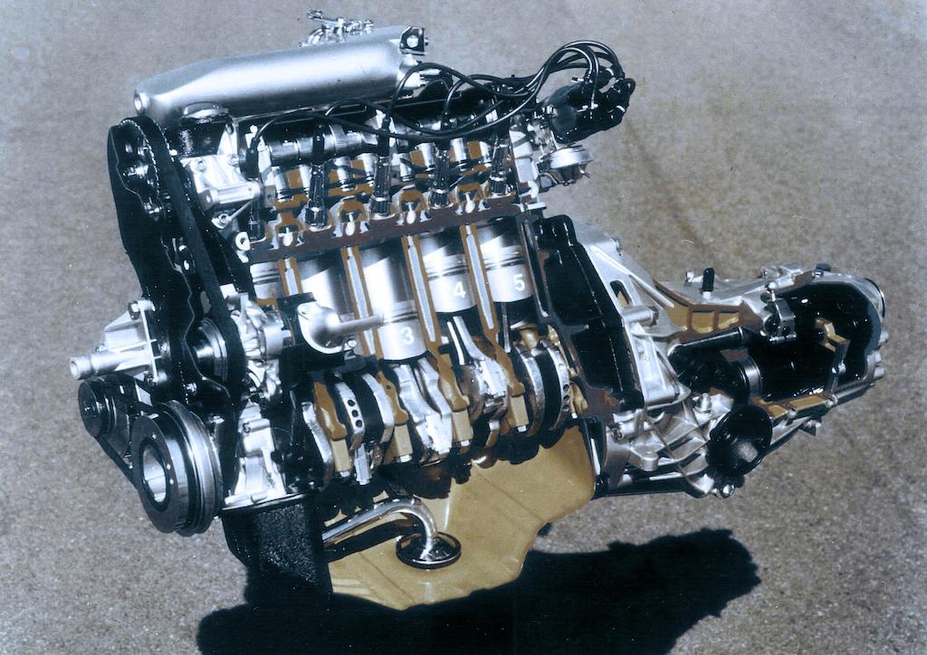 1976 Audi five-cylinder gasoline engine