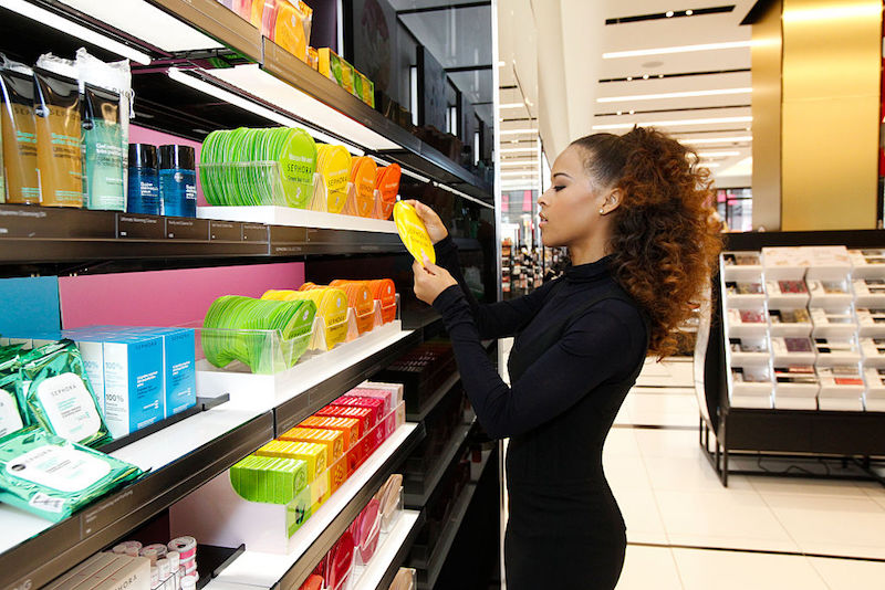 SAN FRANCISCO, CA - NOVEMBER 20: Actress Serayah McNeill shops during the grand opening of Sephora on November 20, 2015 in San Francisco, California.