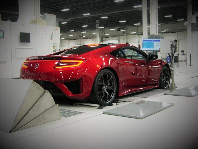 Acura NSX rolls off an assembly line