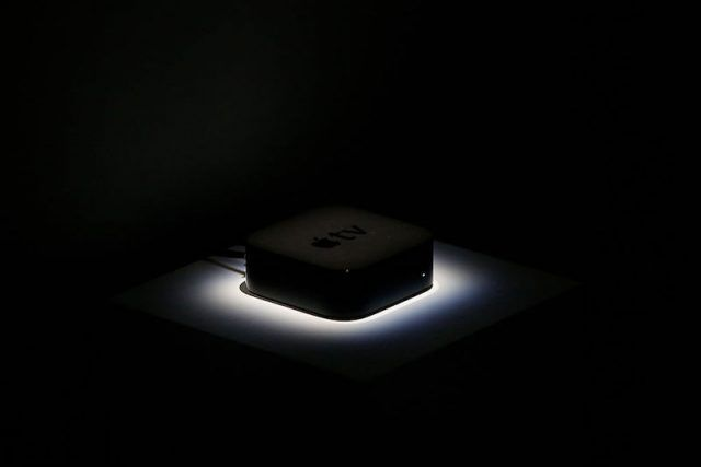 SAN FRANCISCO, CA - SEPTEMBER 9: An Apple Tv set-top box is seen in the demo area after a Apple special event at Bill Graham Civic Auditorium on September 9, 2015 in San Francisco, California. Apple Inc. unveiled the latest iterations of its smart phone, the 6S and 6S Plus, an update to its Apple TV set-top box as well as announcing the new iPad Pro.