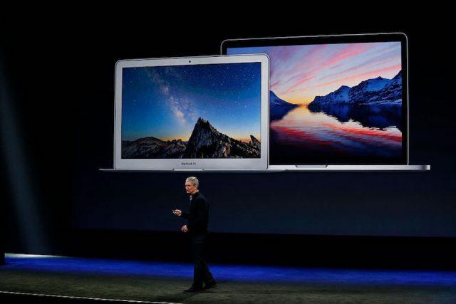 SAN FRANCISCO, CA - MARCH 9: Apple CEO Tim Cook announces the new MacBook during an Apple special event at the Yerba Buena Center for the Arts on March 9, 2015 in San Francisco, California. Apple Inc. is expected to unveil more details on the much anticipated Apple Watch, the tech giant's entry into the rapidly growing wearable technology segment.