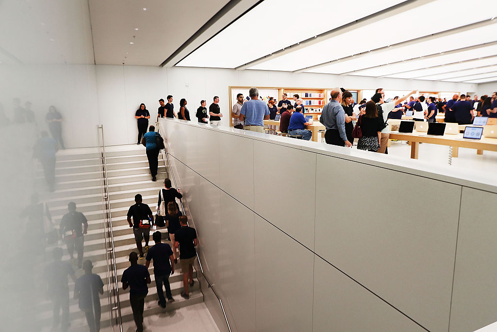 5 things you should never buy at the apple store customers shop at the new apple store gumiabroncs Gallery