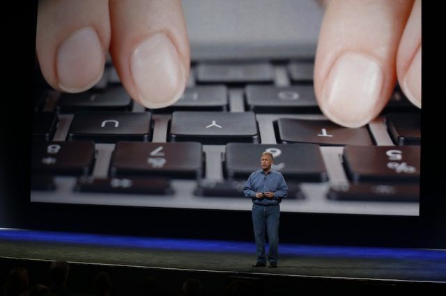 Apple Senior Vice President of Worldwide Marketing Phil Schiller announces the new MacBook during an Apple special event at the Yerba Buena Center for the Arts on March 9, 2015 in San Francisco, California. Apple Inc. is expected to unveil more details on the much anticipated Apple Watch, the tech giant's entry into the rapidly growing wearable technology segment.