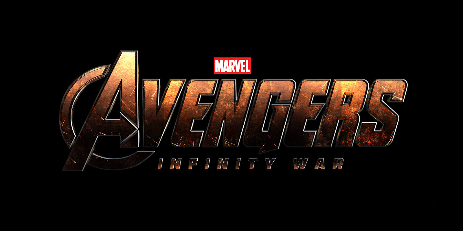 The Avengers: Infinity War logo on a black background