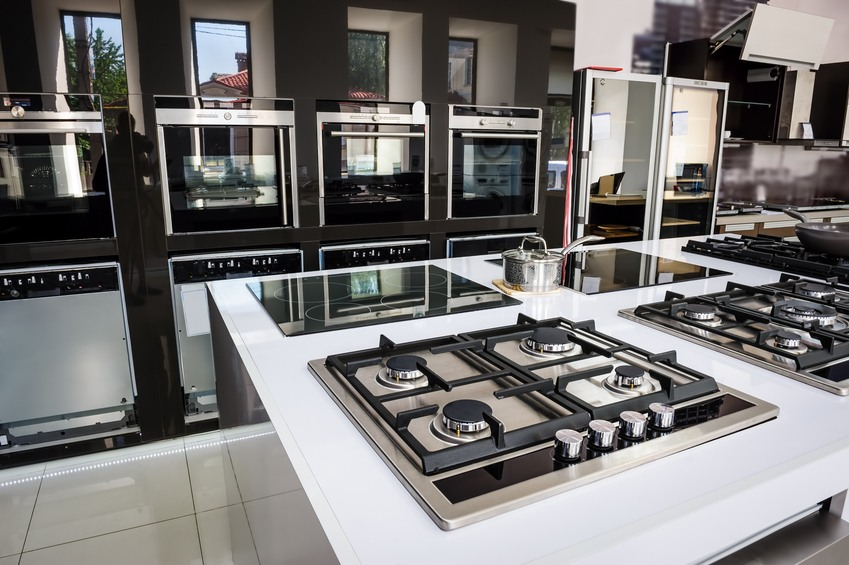 Brand new gas stoves in a shop