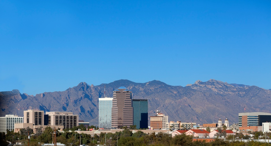 Cityscape of Tucson downtown, Arizona
