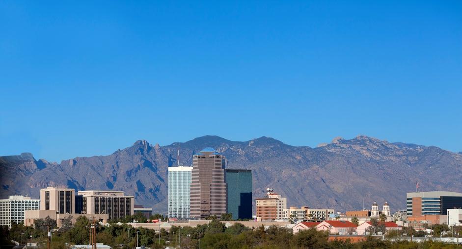 Cityscape of Tucson downtown, Arizona