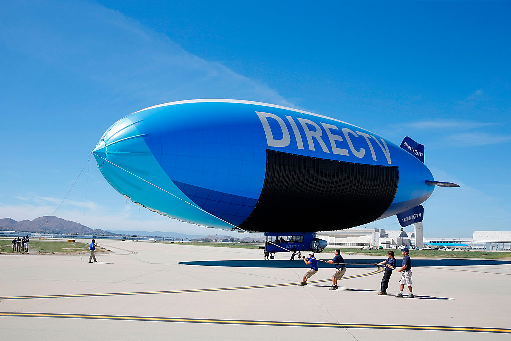 A general view as the DIRECTV Blimp