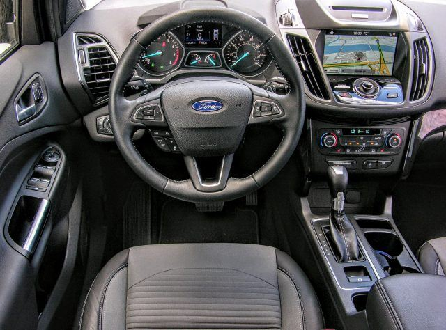 2017 Ford Escape cockpit | Micah Wright/Autos Cheat Sheet