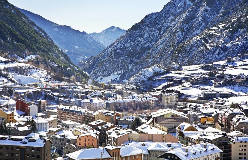 View of Encamp. Andorra