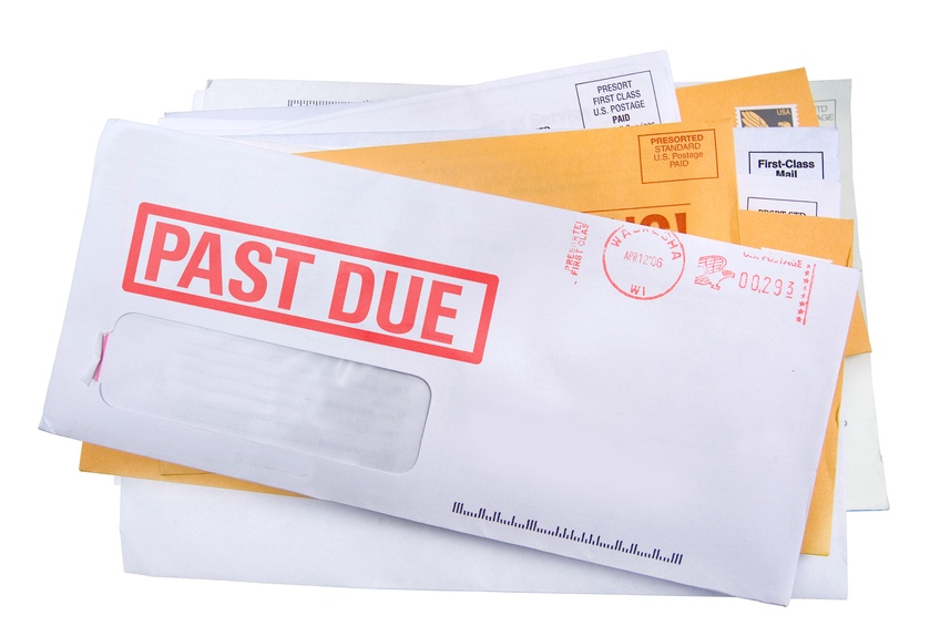 junk mail with past due bills