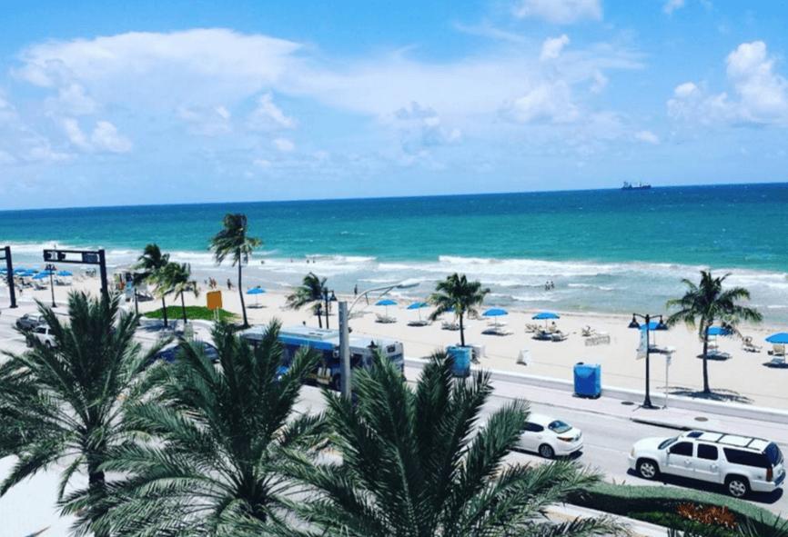 The Florida coast