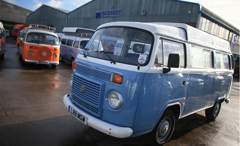 BRISTOL, ENGLAND - JANUARY 23: Some of the last of the Brazilian-built Volkswagen Type 2 Kombi vans that have been converted into campervans are seen at Danbury Motorcaravans workshops on January 23, 2014 in Bristol, England. Since 1997, the Bristol motorhome specialist has been importing and converting into luxury campervans the iconic VW Type 2 Kombi, which was first sold in 1950, and have, until last December, continued to be built in Brazil. Although costing after conversion at least 35000 GBP, most of the final 99 new vehicles that have been imported into Bristol have already been bought. The vehicles will be the last brand new VW Type 2 camper vans available in all of Europe and will mark the end of an era for the much loved van. (Photo by Matt Cardy/Getty Images)