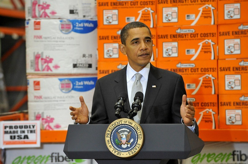 President Barack Obama speaks about the economic impact of energy saving home retrofits, December 15, 2009