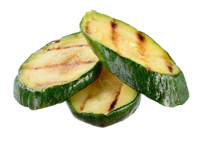 Grilled zucchini slices