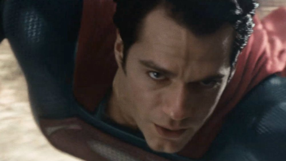 Henry Cavill in his Superman suit in Man of Steel