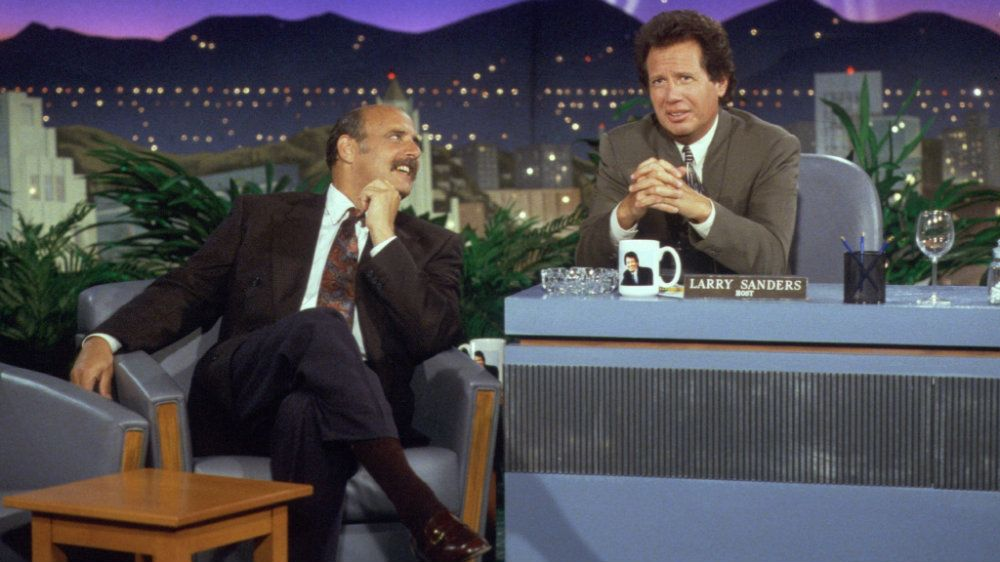 Jeffrey Tambor and Garry Shandling in The Larry Sanders Show