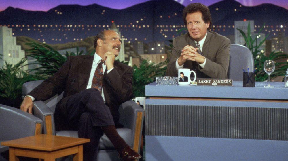 Jeffrey Tambor and Garry Shandling in The Larry Sanders Show