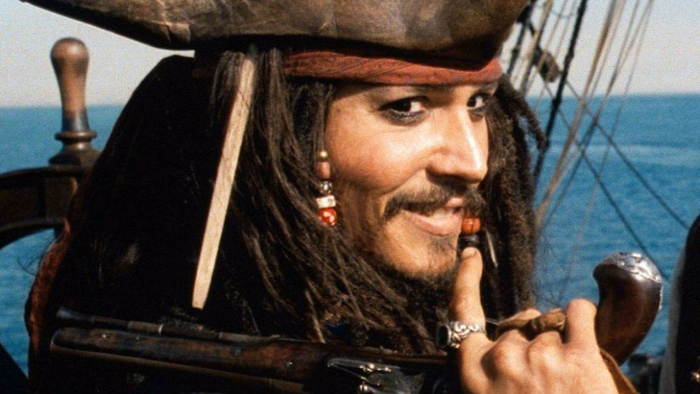 Johnny Depp in Pirates of the Caribbean The Curse of the Black Pearl