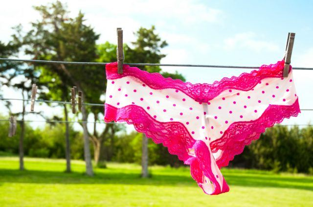 Lacy Underpants on a wire