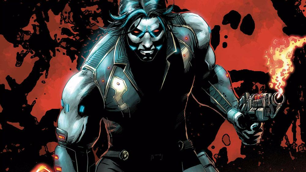 Lobo clenches his fists in a DC Comics issue
